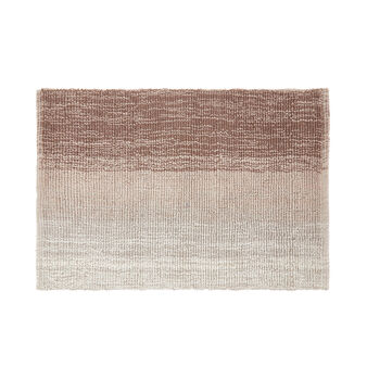 Faded-effect cotton bath mat