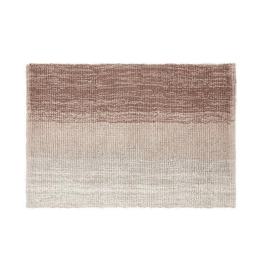 Faded-effect cotton bath mat