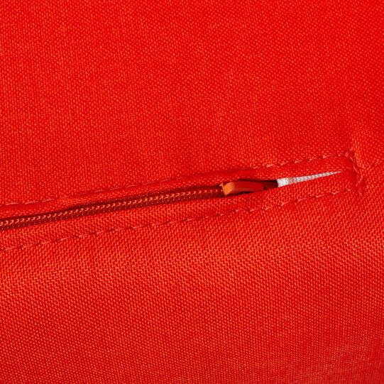 Otto solid colour fabric ottoman