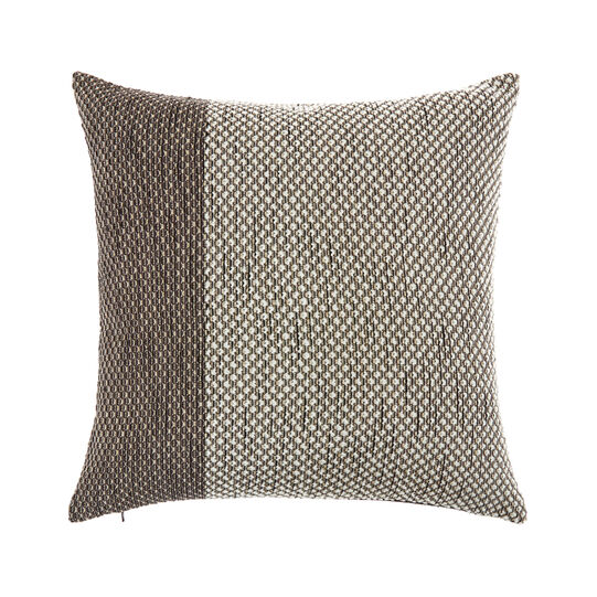 Knitted cushion with lurex inserts (43x43cm)