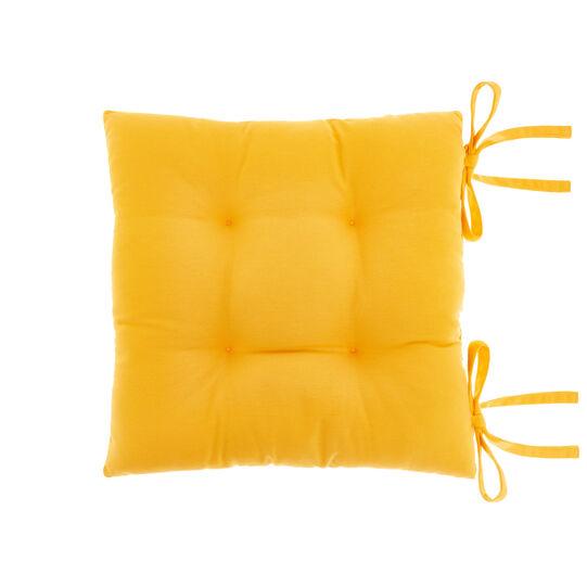Solid colour 100% cotton kitchen seat pad