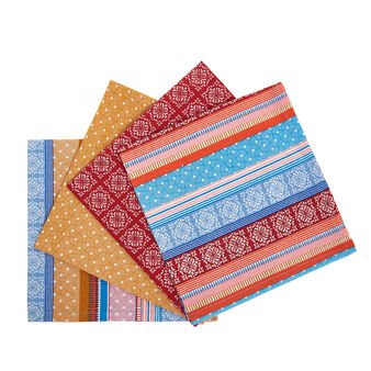 4-pack napkins in 100% cotton with micro print