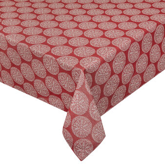 Cotton blend and lurex tablecloth with spheres motif