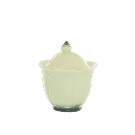Porcelain flower sugar bowl