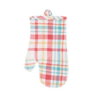 Oven mitt in cotton twill with Scottish design