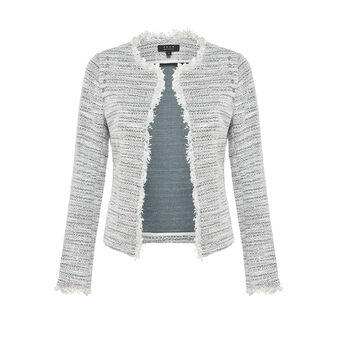 Koan jacquard jacket with studs