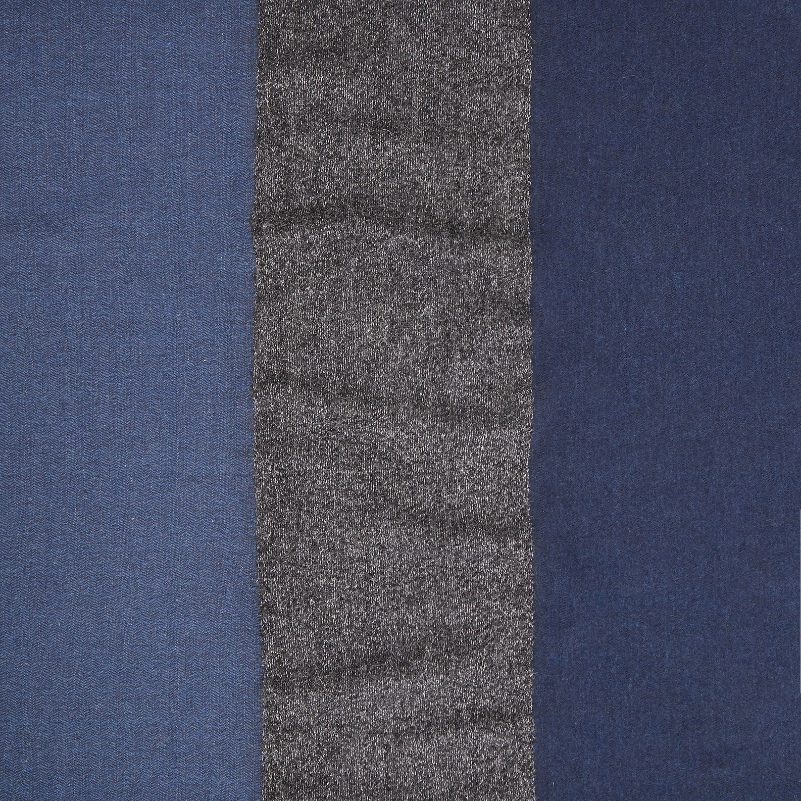Wool blend throw with lurex band