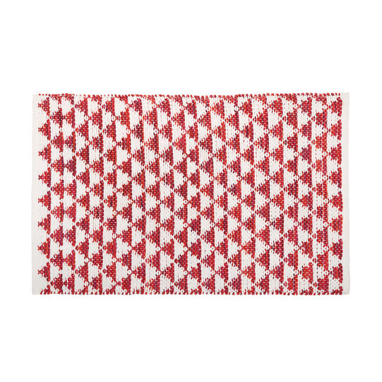 Kitchen mat in 100% cotton with geometric motif