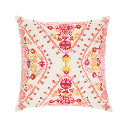 Cushion with raised embroidery