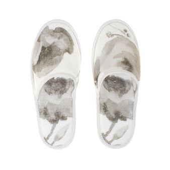 Portofino floral slippers in 100% cotton