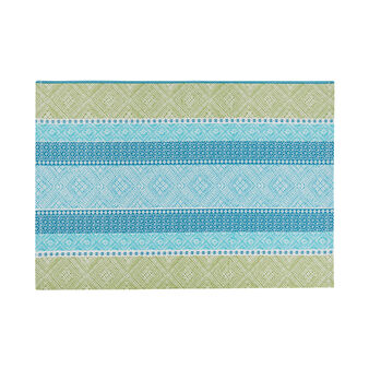 Striped pure cotton placemat