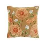 Cotton cushion with floral embroidery (45x45cm)