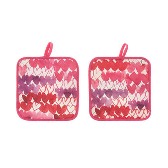 Set of 2 pot holders in pure cotton with Sandra Jacobs print