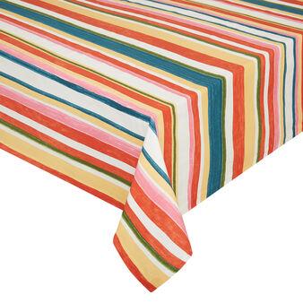 Tovaglia puro cotone a righe colorate