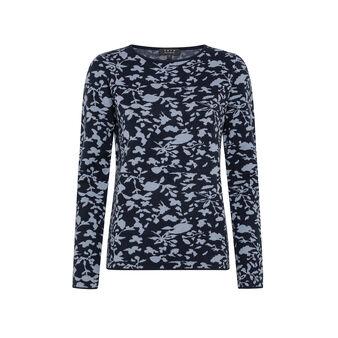 Jacquard patterned sweater