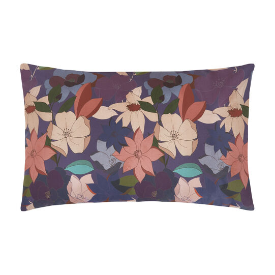 Cotton percale pillowcase with floral pattern