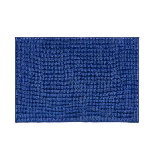 Bath mat in solid colour shaggy microfibre.