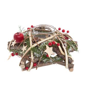 Hand-made wooden star wreath