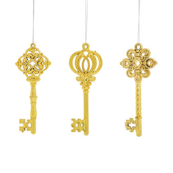 Gold key decoration