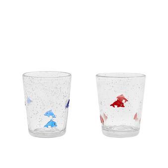 Bicchiere vetro decoro murrine