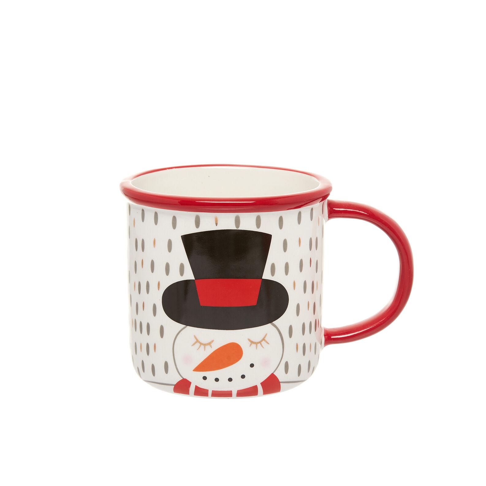 Ceramic snowman mug