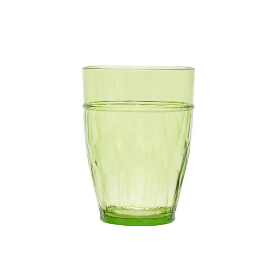 Green plastic glass