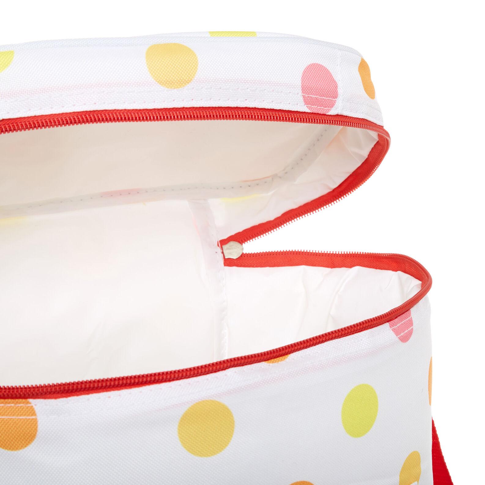 12L polka dot cooler bag