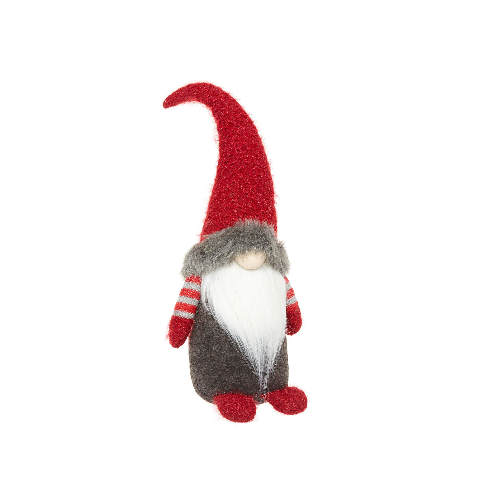 Decorative gnome soft toy in felt H 46 cm