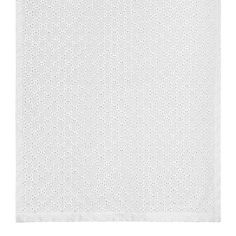 Solid colour broderie anglaise lace curtain