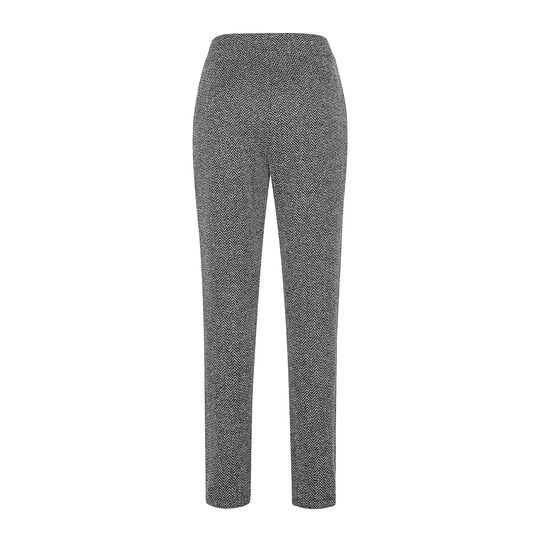 Herringbone patterned trousers