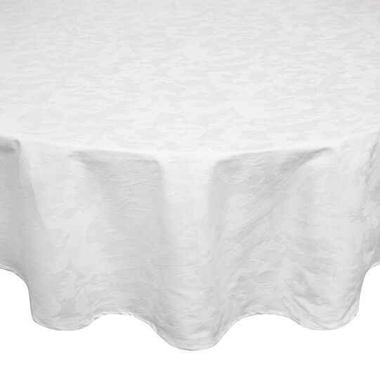 Round tablecloth in Egyptian cotton jacquard