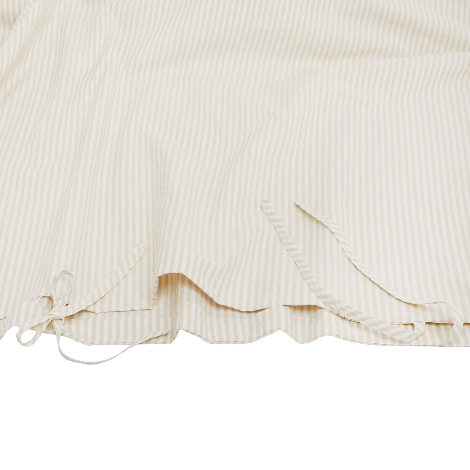 Yarn-dyed striped cotton duvet cover