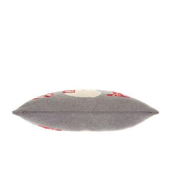 Cuscino maglia di cotone motivo natalizio 40x60cm