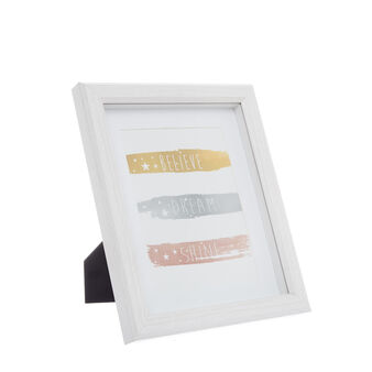 Bleached wood-effect photo frame