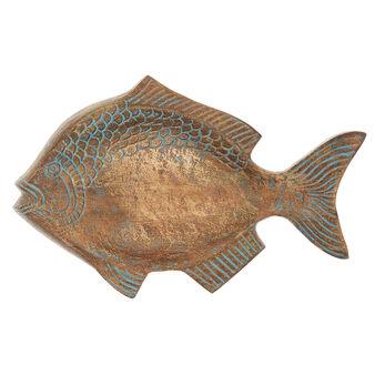 Pesce decorativo metallo fatto a mano