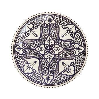 Piatto piano ceramica artigianale UNIDO