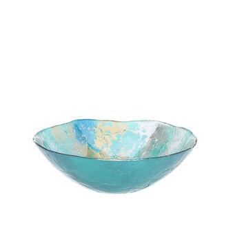 Smoky-effect glass bowl