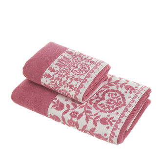100% cotton towel with jacquard flounce
