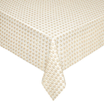Table cover with flower openwork and lurex