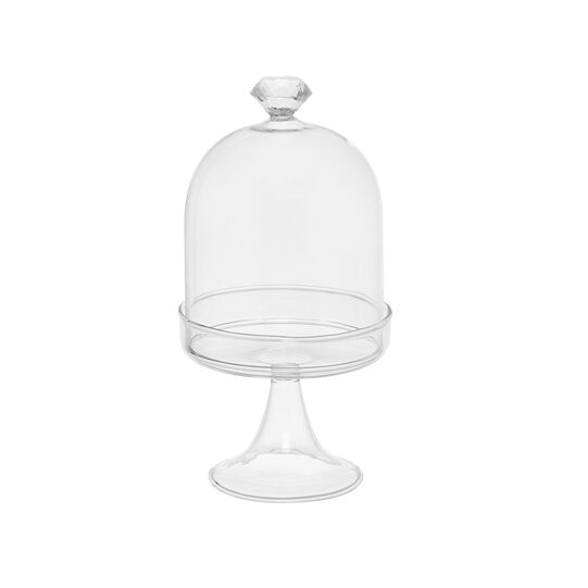 Glass cake stand with diamond