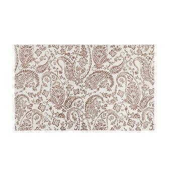 Hand-printed bath mat