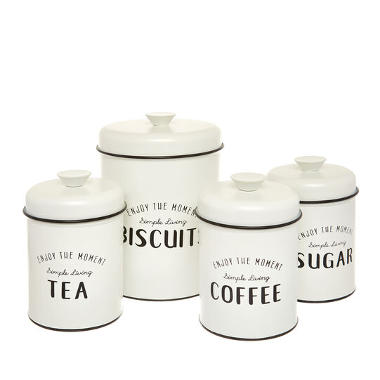 Enamelled iron Biscuits tin