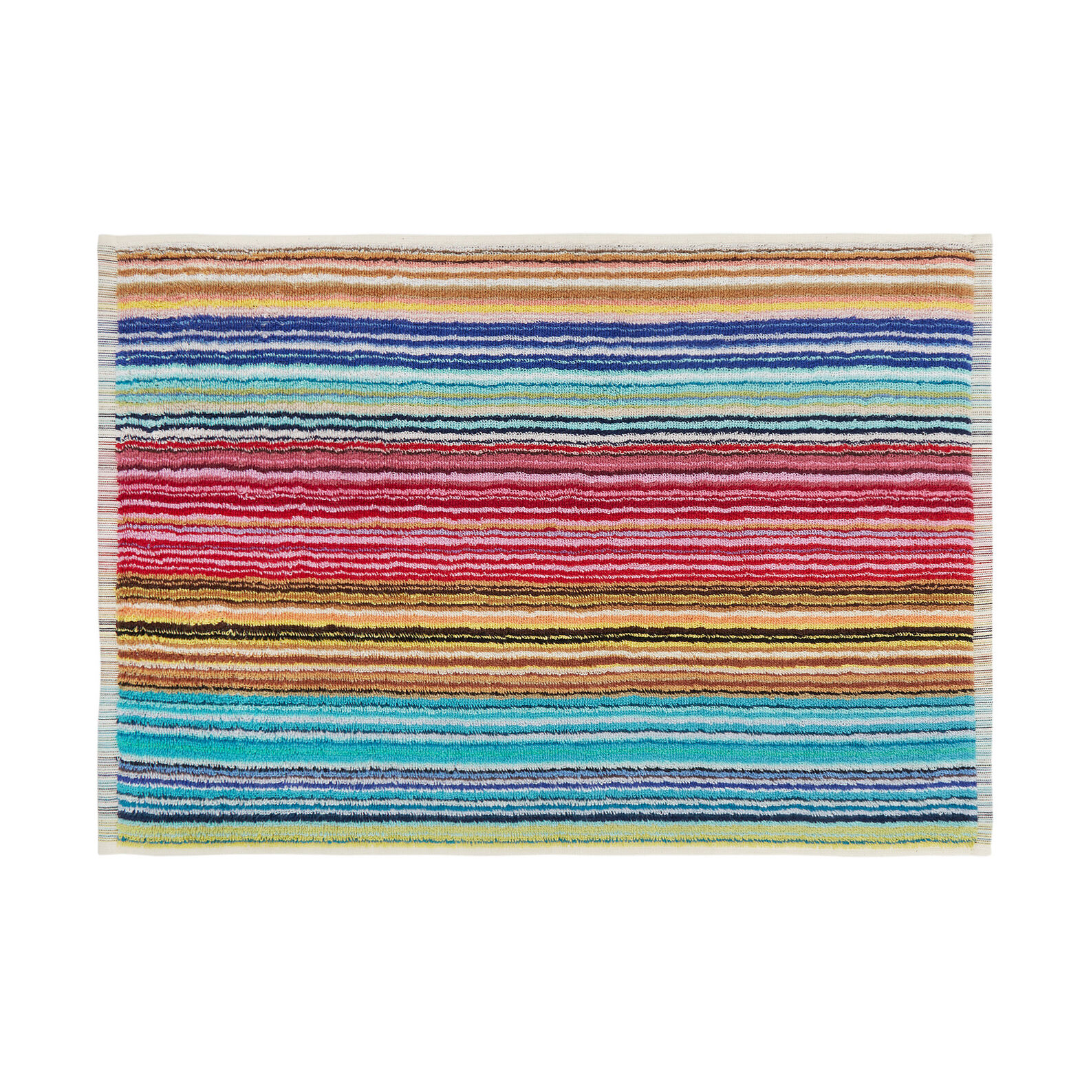 Multiple-striped pure cotton jacquard towel