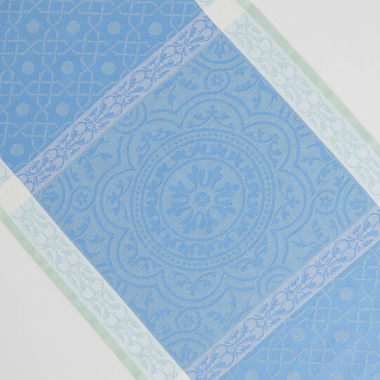 Table runner in 100% cotton with jacquard design