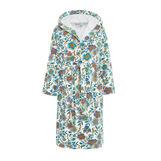 100% cotton bathrobe with flowers pattern