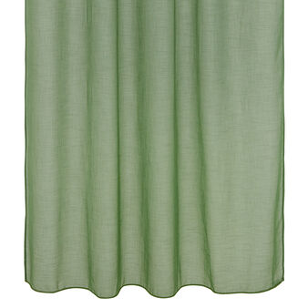 Solid colour curtain with laces