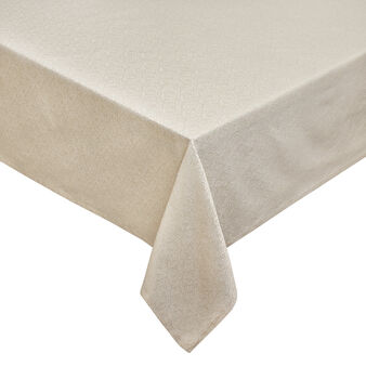 Jacquard weave tablecloth with lurex