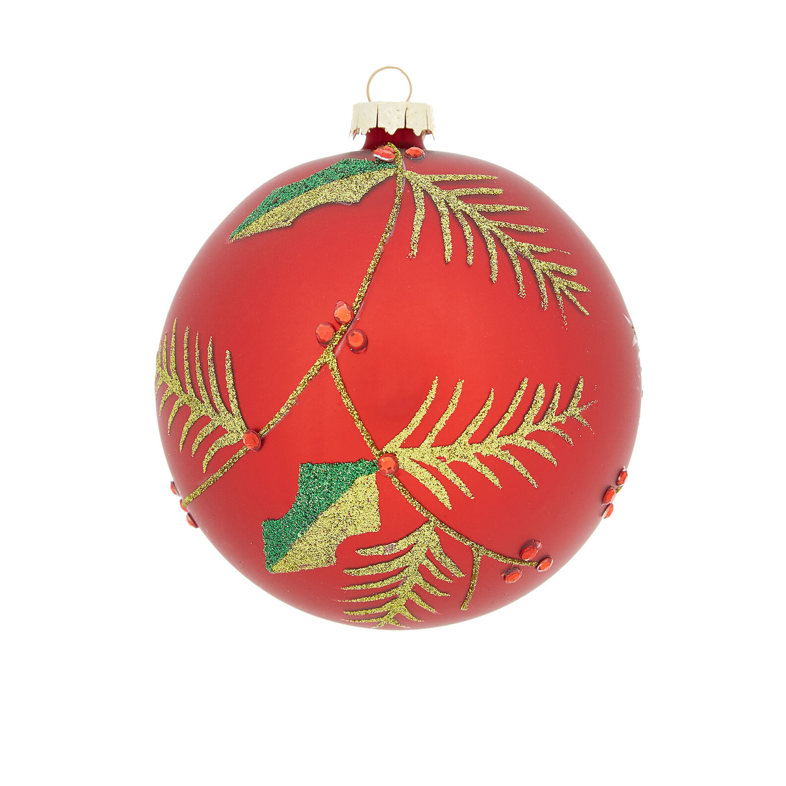Hand-decorated holly bauble