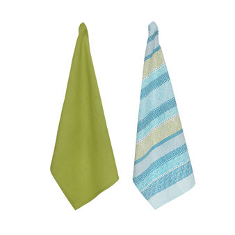Set of 2 pure cotton tea towels