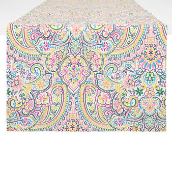 100% cotton table runner with mandala print